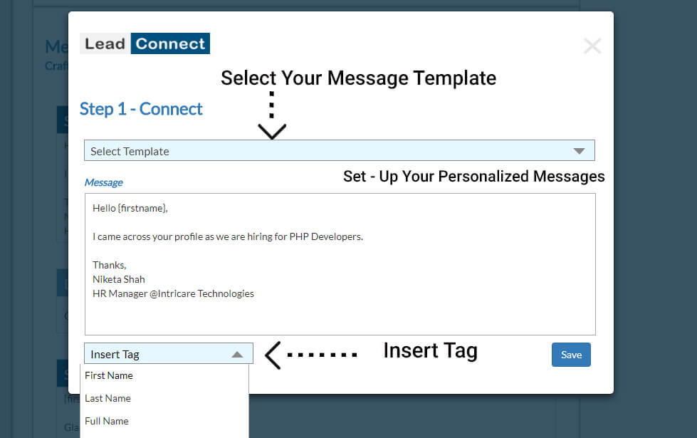 select-message-template